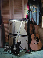 Jeff's guitars and amplifier